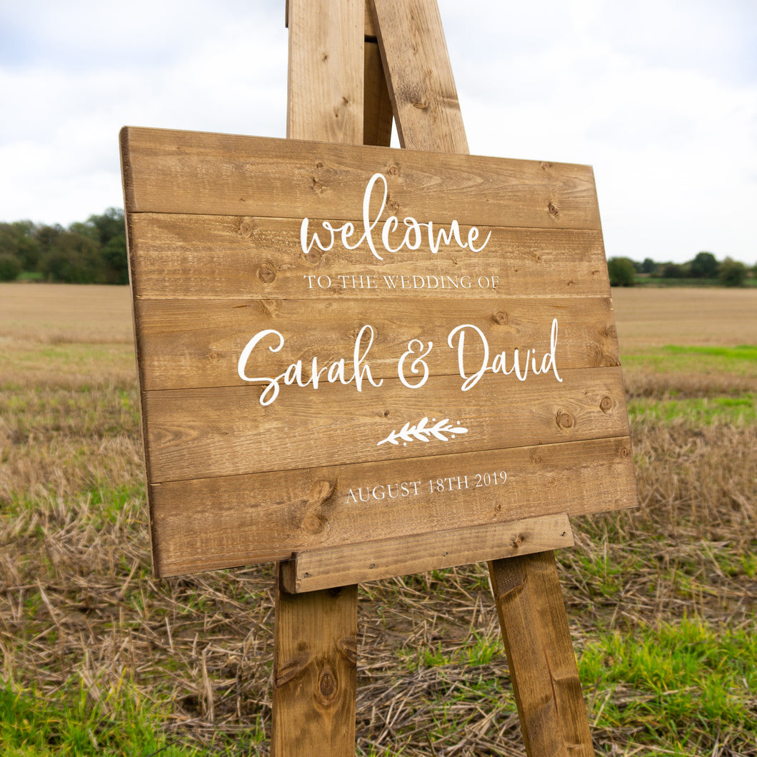 Classic Wedding Welcome Sign Hire