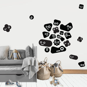 Cute Monsters Wall Stickers