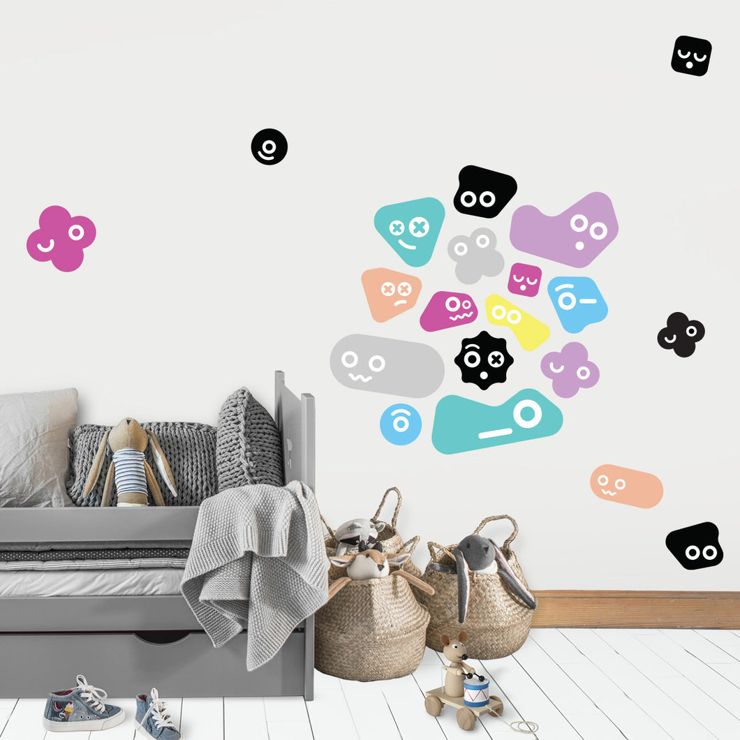 Cute Monsters Kids Bedroom Wall Stickers