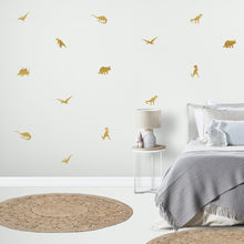 Dinosaur Wall Stickers in Gold