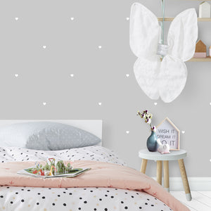 Close Up White Heart Wall Stickers/Decals