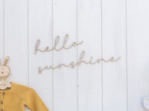 Hello Sunshine Wall Sign