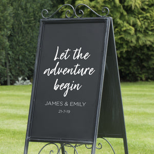 Let The Adventure Begin Wedding Sign