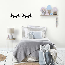 Eyelash Wall Sticker Black