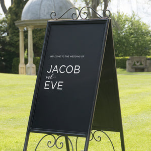 Modern Wedding Welcome Sign Sticker