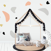Organic Shapes Wall Stickers/Decals - Peach, Grey, Gold, Black