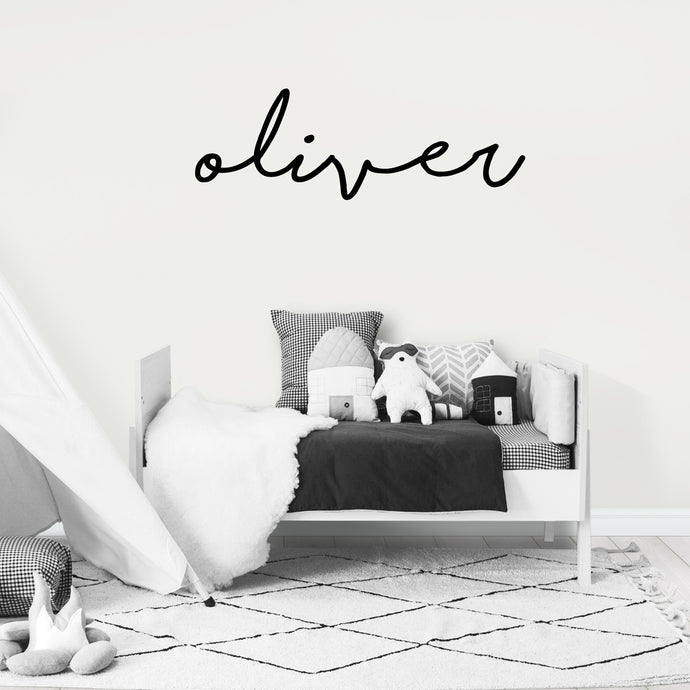 Personalised Name Decal/Wall Sticker in Black