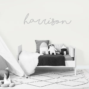 Personalised Name Decal/Wall Sticker in Grey