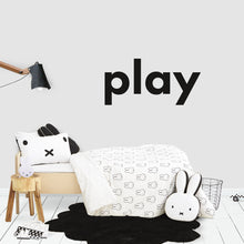 Play Decal in Black for Kids Bedroom