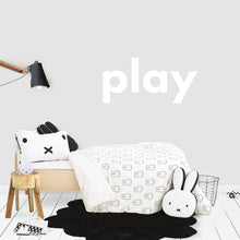 Play Decal in White for Kids Bedroom