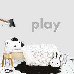 Play Decal in Grey for Kids Bedroom