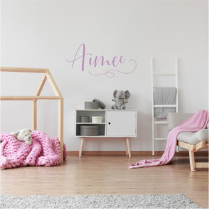 Personalised Script Decal Lilac