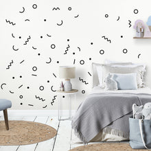 Shapes and Lines Wall Stickers/Decals Black