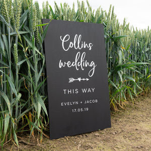 Personalised Wedding Direction Decal