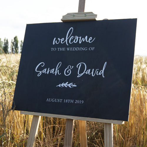Rustic Personalised Wedding Welcome Sticker