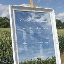 Wedding Table Plan Vintage Mirror Hire