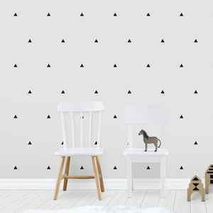 Triangle Wall Stickers Black