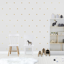 Triangle Wall Stickers Gold