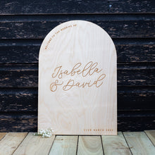 Script Personalised Wedding Welcome Sign
