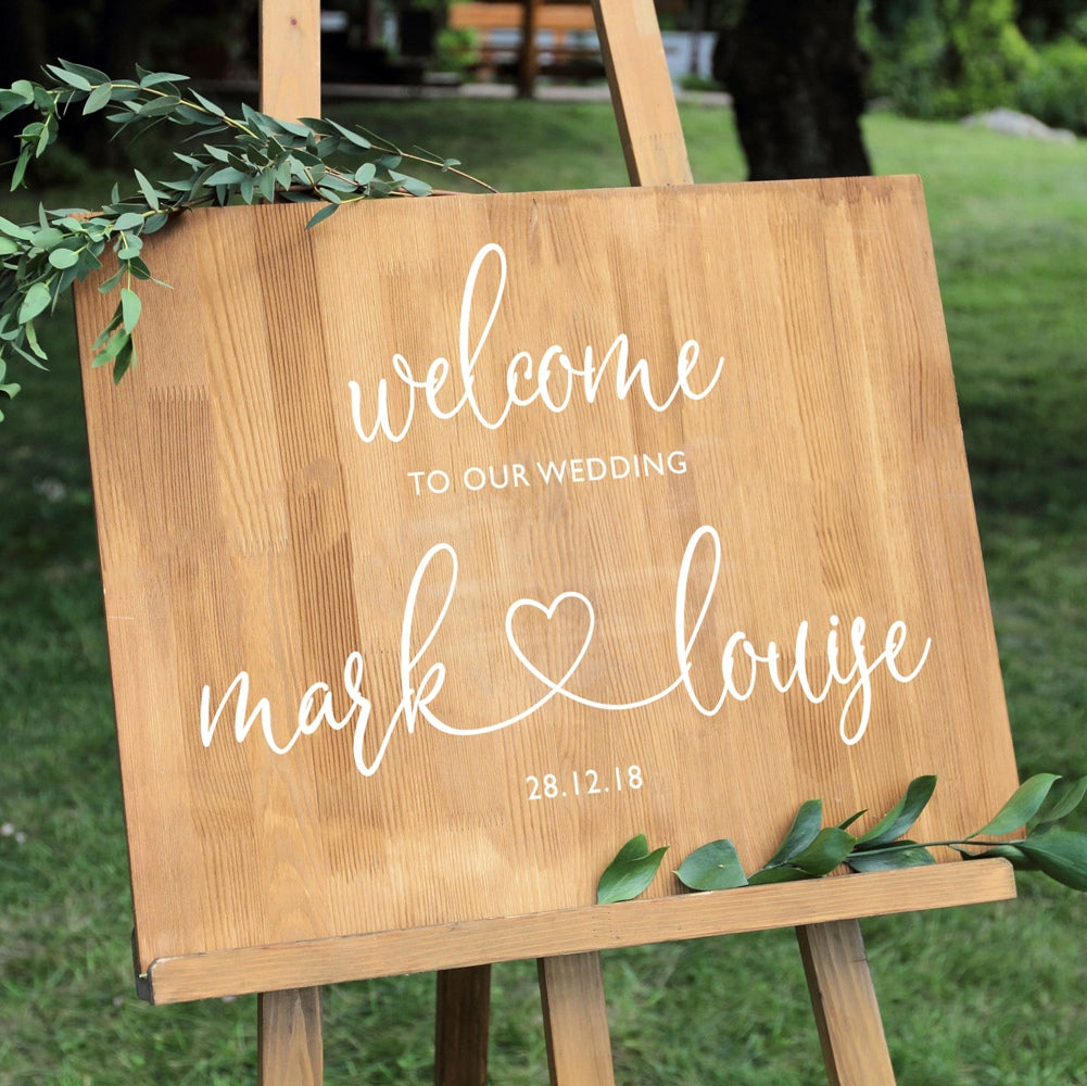 Vinyl Wedding Board Decal/Sticker