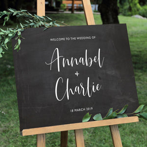Script Wedding Welcome Sign Sticker