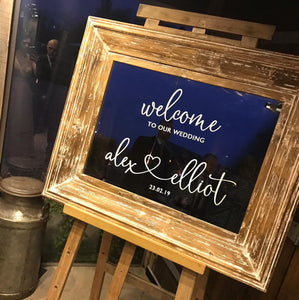Classic Wedding Welcome Sign Sticker