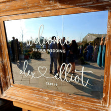 Vinyl Sticker For Wedding Welcome Sign