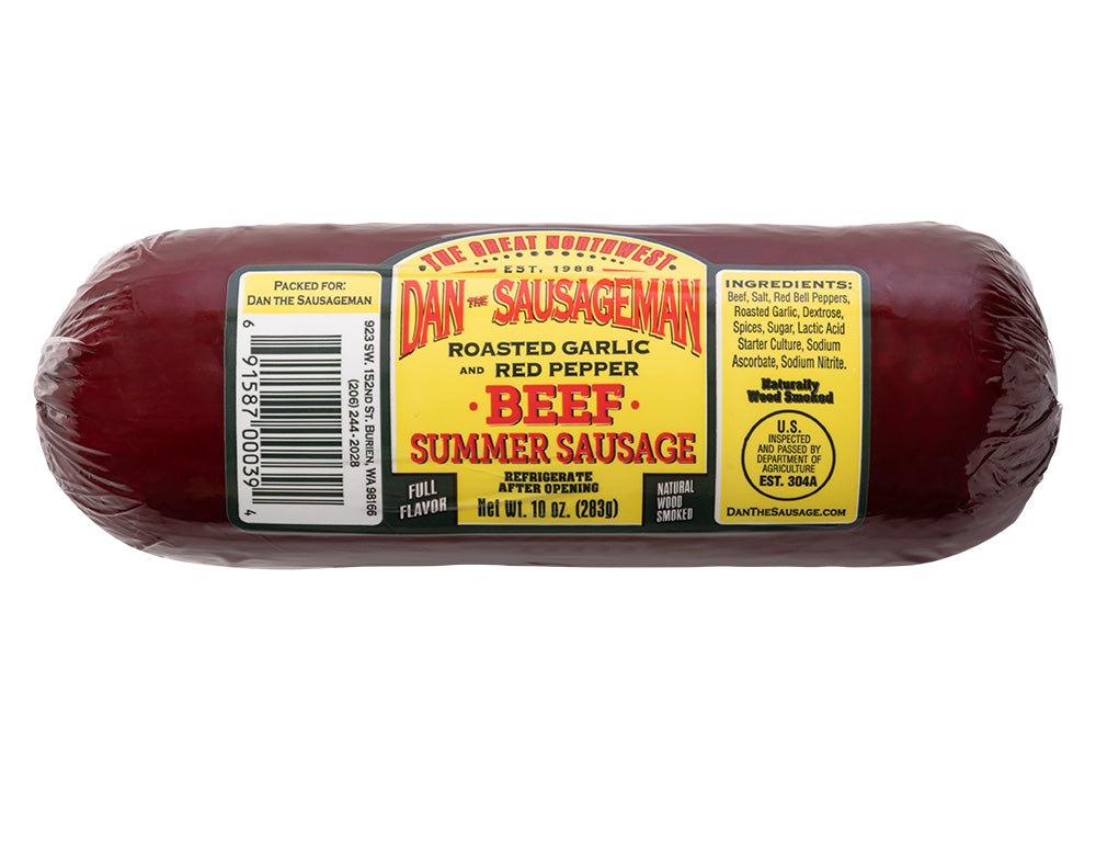 Roasted Garlic Red Pepper Summer Sausage