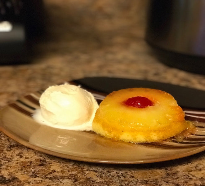 Instant Pot Mini Pineapple Upside-down Cakes