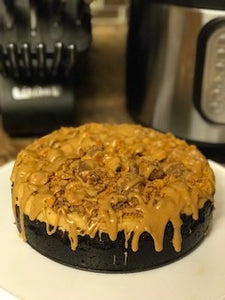 Chocolate Peanut Butter Butterfinger Cheesecake for INSTANT POT