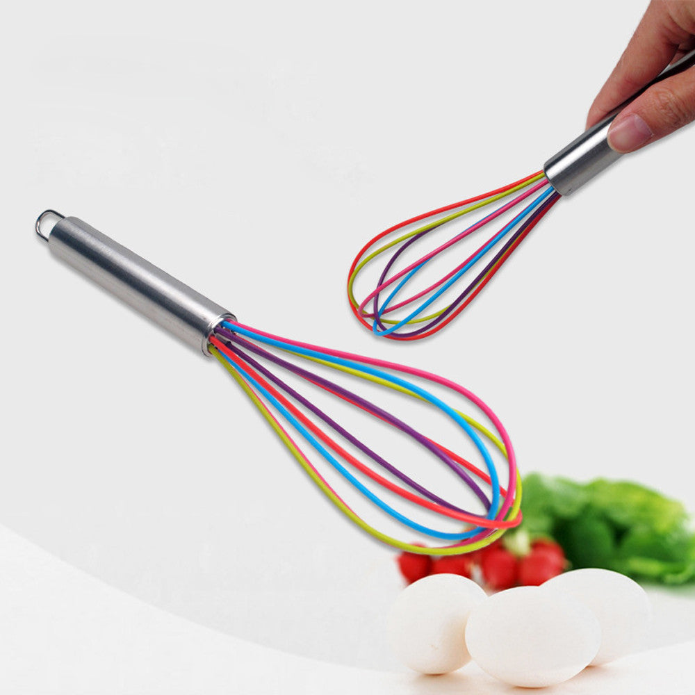 Multicolor Pure Silicone Whisk (Non-scratching)