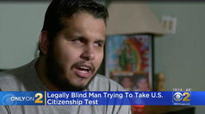 A blind man failed the U.S. citizenship test after it wasn't offered in Braille