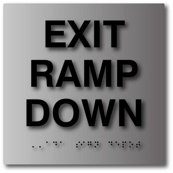 Exit & Entrance Brushed Aluminum Signs from ADA Sign Depot
