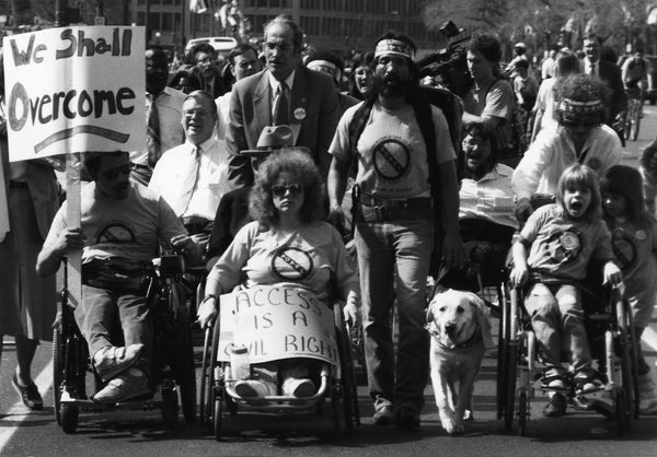 ADA advocates in 1990 march