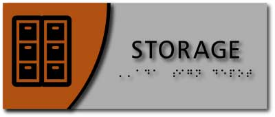 BWL-1057 Storage Room Horizontal Layout Sign