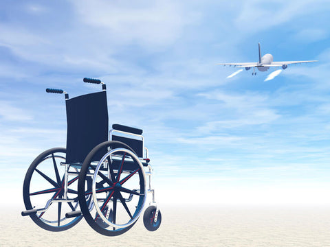 wheelchair and airplane image