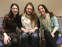 Harvard medical students Jessica Laird (from left), Jennifer Cloutier and Stacy Jones are raising awareness about disabilities in medicine on campus.