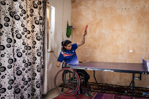 Nearly 30 percent of Iraq's Paralympic athletes were injured in terrorism-related attacks. Credit Ivor Prickett for The New York Times