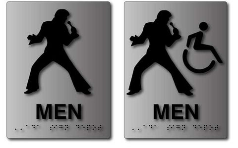 Elvis Presley Bathroom Signs