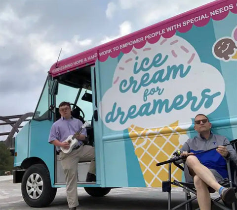 ice cream store with special needs employees