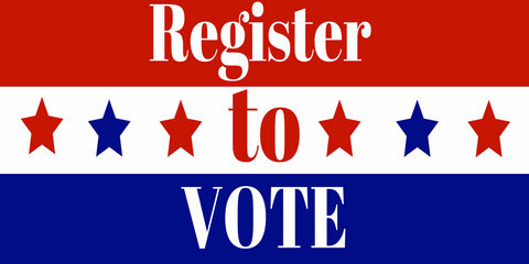 Register to Vote American flag