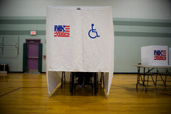 wheelchair accessible voting booth