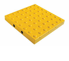 ATP-1002 - 2' x 3' - Cast-in-Place Truncated Domes Tiles for Wet Concrete - Yellow