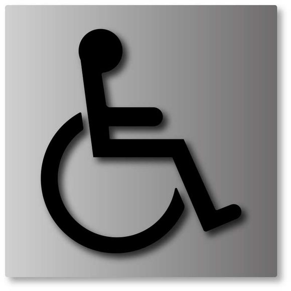 BAL-1001 Wheelchair Symbol Sign - Black