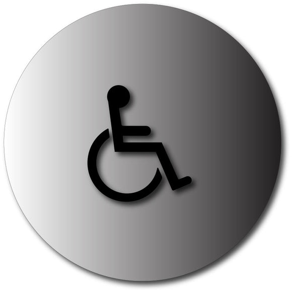 BAL-1005 Womens Restroom Door Sign with Wheelchair Symbols Black
