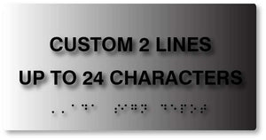 BAL-1026 Custom ADA Compliant Signs with Braille Signs on Brushed Aluminum - Black