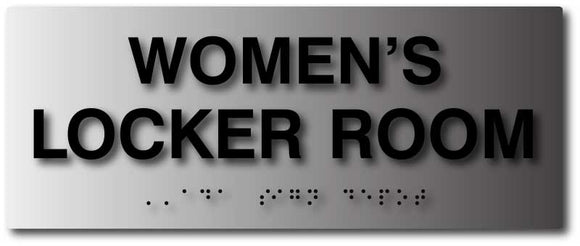 BAL-1032 Womens Locker Room ADA Sign - Black