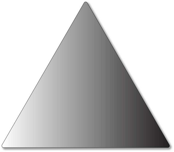 Title 24 Compliant Triangle Sign for Mens Bathroom in Brushed Aluminum