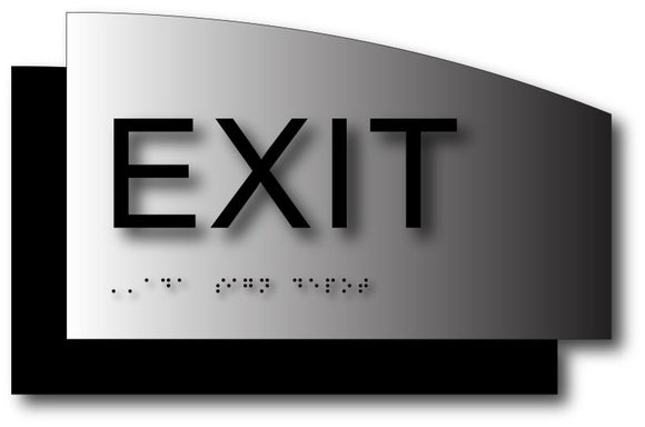 BAL-1117 Exit ADA Braille Sign in Black