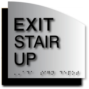 BAL-1123 Exit Stair Up ADA Sign in Black